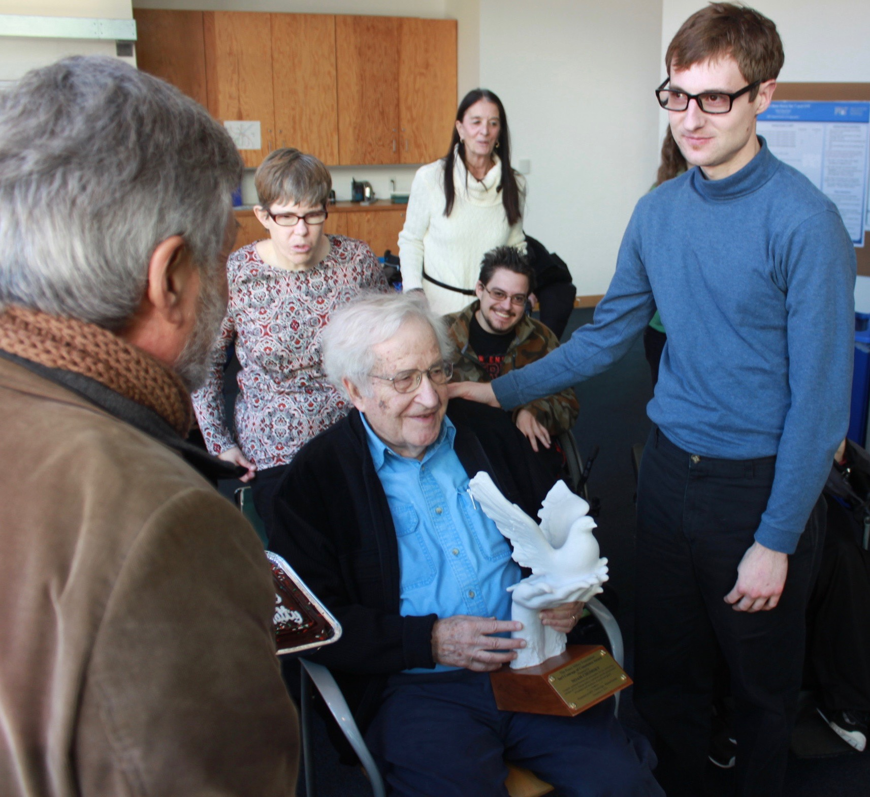 Noam Chomsky with Matty at MIT.